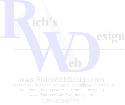 Web Design Seo Search Engine Optimization Services Kernersville Greensboro North Carolina Web Design Nc Web Site Development Consultant Winston Salem Rich S Web Design 27284
